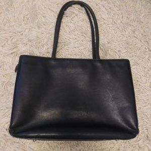 Levenger leather laptop tote
